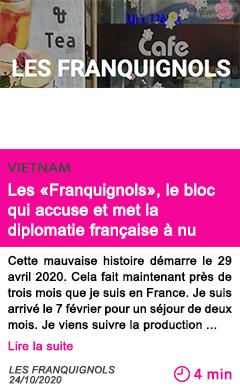 Societe les franquignols le bloc qui accuse et met la diplomatie franc aise a nu