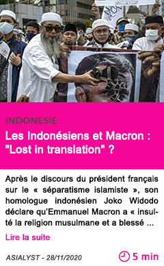 Societe les indone siens et macron lost in translation
