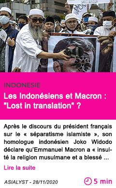Societe les indone siens et macron lost in translation
