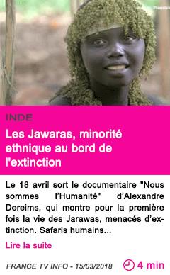 Societe les jawaras minorite ethnique au bord de l extinction