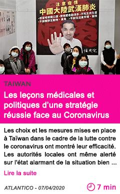 Societe les lecons medicales et politiques d une strategie reussie face au coronavirus