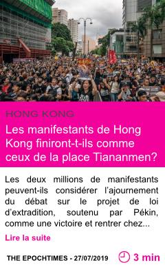 Societe les manifestants de hong kong finiront t ils comme ceux de la place tiananmen page001