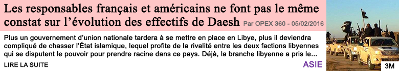 Societe les responsables francais et americains ne font pas le meme constat sur l evolution des effectifs de daesh