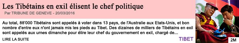 Societe les tibetains en exil elisent le chef politique