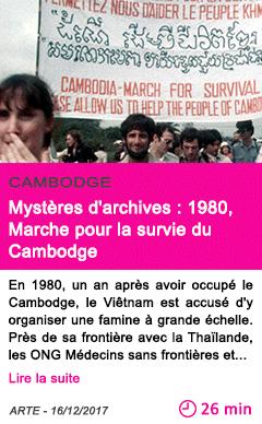 Societe mysteres d archives 1980 marche pour la survie du cambodge 1
