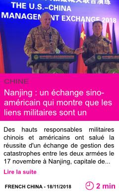 Societe nanjing un echange sino americain qui montre que les liens militaires sont un stabilisateur pour les relations entre les deux pays page001