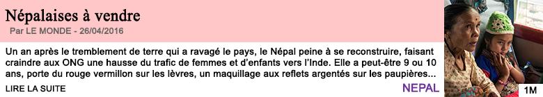 Societe nepalaises a vendre