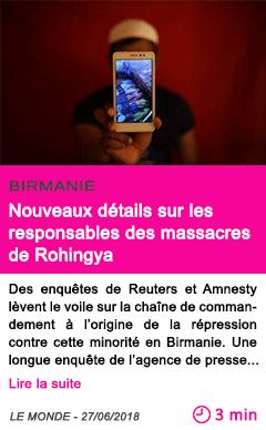 Societe nouveaux details sur les responsables des massacres de rohingya