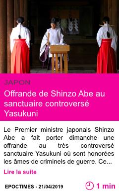 Societe offrande de shinzo abe au sanctuaire controverse yasukuni page001