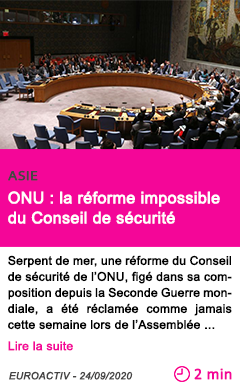 Societe onu la re forme impossible du conseil de se curite