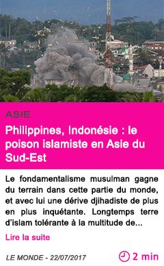 Societe philippines indonesie le poison islamiste en asie du sud est