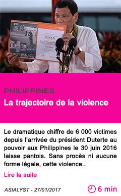 Societe philippines la trajectoire de la violence