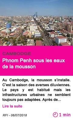 Societe phnom penh sous les eaux de la mousson