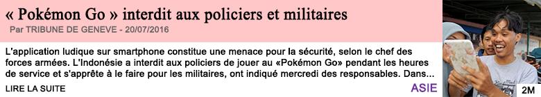 Societe pokemon go interdit aux policiers et militaires