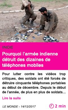 Societe pourquoi l armee indienne detruit des dizaines de telephones mobiles 1