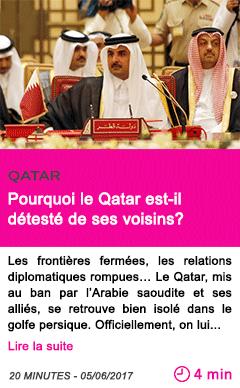 Societe pourquoi le qatar est il deteste de ses voisins