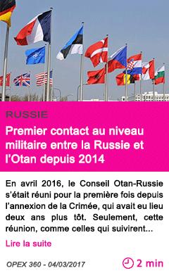 Societe premier contact au niveau militaire entre la russie et l otan depuis 2014