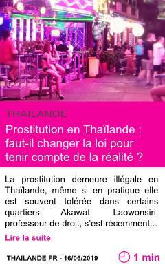 Societe prostitution en thailande faut il changer la loi pour tenir compte de la realite page001