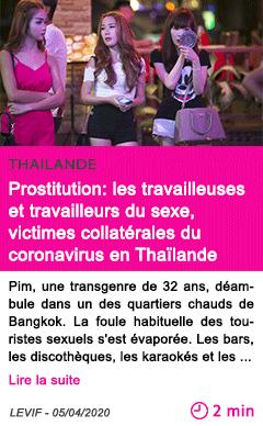 Societe prostitution les travailleuses et travailleurs du sexe victimes collaterales du coronavirus en thailande