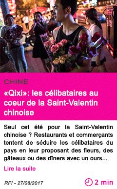 Societe qixi les celibataires au coeur de la saint valentin chinoise