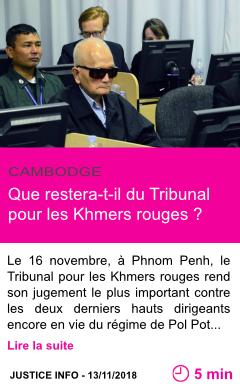 Societe que restera t il du tribunal pour les khmers rouges page001