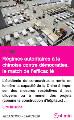 Societe regimes autoritaires a la chinoise contre democraties le match de l efficacite avantage puissance a