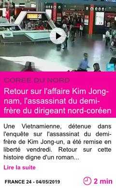 Societe retour sur l affaire kim jong nam l assassinat du demi frere du dirigeant nord coreen page001