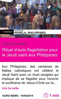 Societe rituel d auto flagellation pour le jeudi saint aux philippines page001