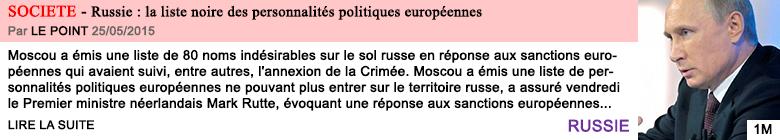 Societe russie la liste noire des personnalites politiques europeennes