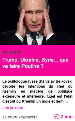 Societe russie trump ukraine syrie