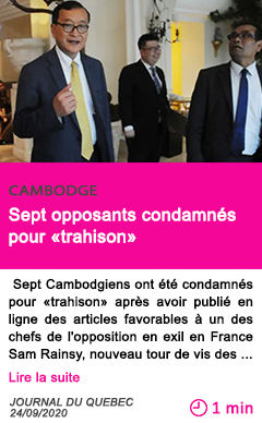 Societe sept opposants condamne s pour trahison