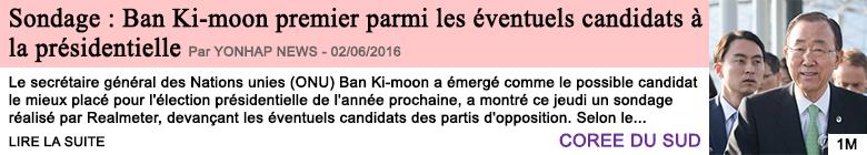 Societe sondage ban ki moon premier parmi les eventuels candidats a la presidentielle