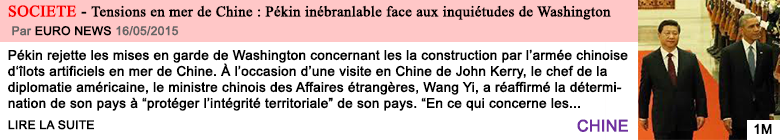Societe tensions en mer de chine pekin inebranlable face aux inquietudes de washington