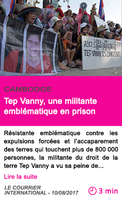 Societe tep vanny une militante emblematique en prison