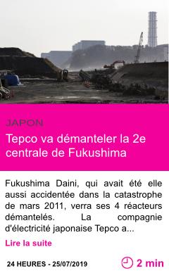 Societe tepco va demanteler la 2e centrale de fukushima page001