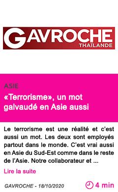 Societe terrorisme un mot galvaude en asie aussi