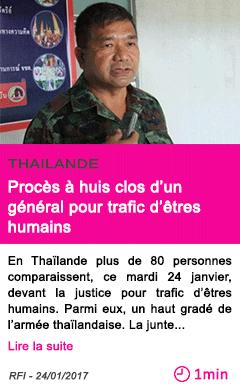 Societe thailande proces a huis clos d un general pour trafic d etres humains
