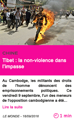 Societe tibet la non violence dans l impasse