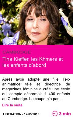 Societe tina kieffer les khmers et les enfants d abord page001