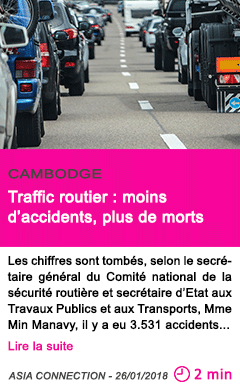 Societe traffic routier moins d accidents plus de morts