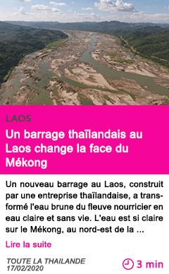 Societe un barrage thailandais au laos change la face du mekong