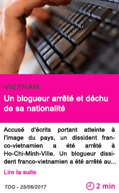 Societe un blogueur arrete et dechu de sa nationalite