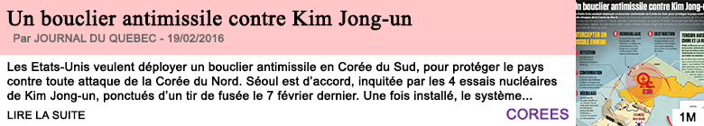 Societe un boucier antimissile contre kim jong un 2
