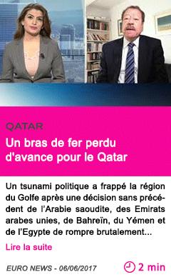 Societe un bras de fer perdu d avance pour le qatar