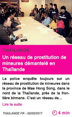 Societe un reseau de prostitution de mineures demantele en thailande