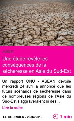 Societe une etude revele les consequences de la secheresse en asie du sud est page001