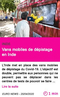 Societe vans mobiles de depistage en inde