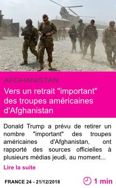 Societe vers un retrait important des troupes americaines d afghanistan page001