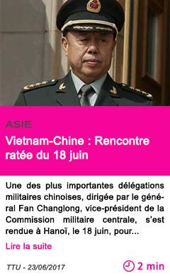Societe vietnam chine rencontre ratee du 18 juin