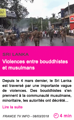 Societe violences entre bouddhistes et musulmans